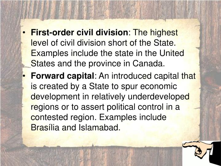 First-order civil division