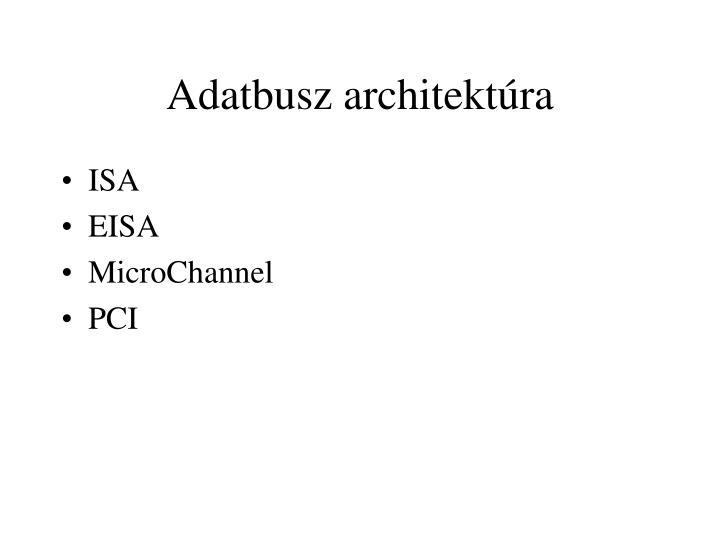 Adatbusz architektúra