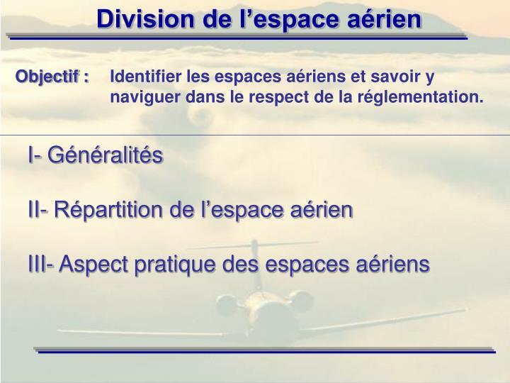 I- Généralités