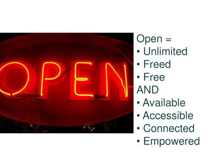 Open =