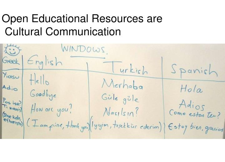 Open Educational Resources are