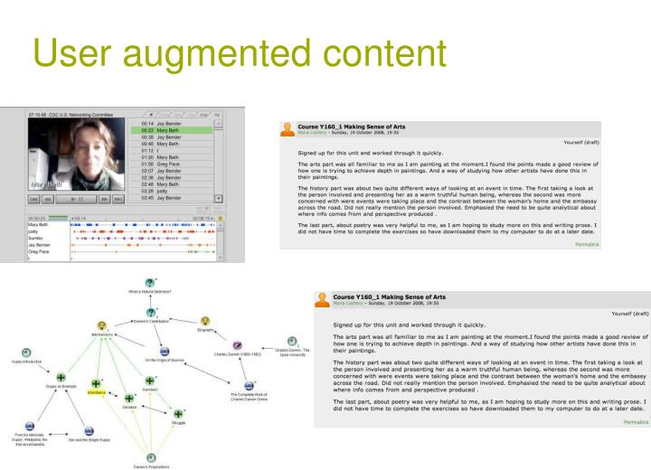 User augmented content