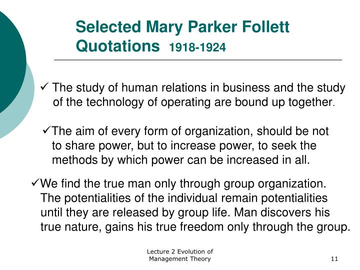 mary parker follet theory