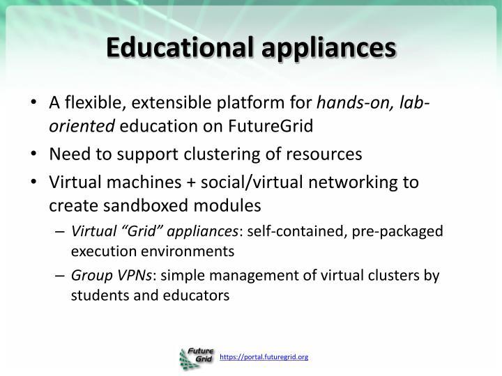 Educational appliances