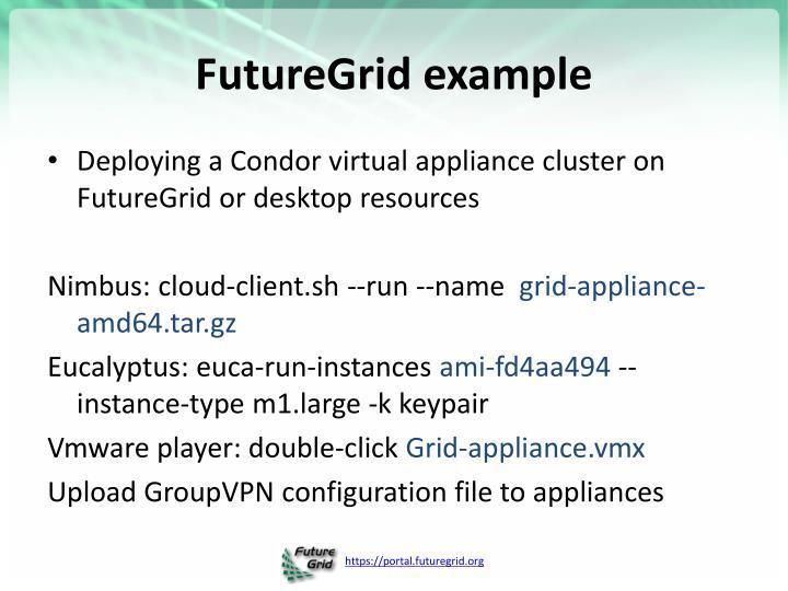 FutureGrid example