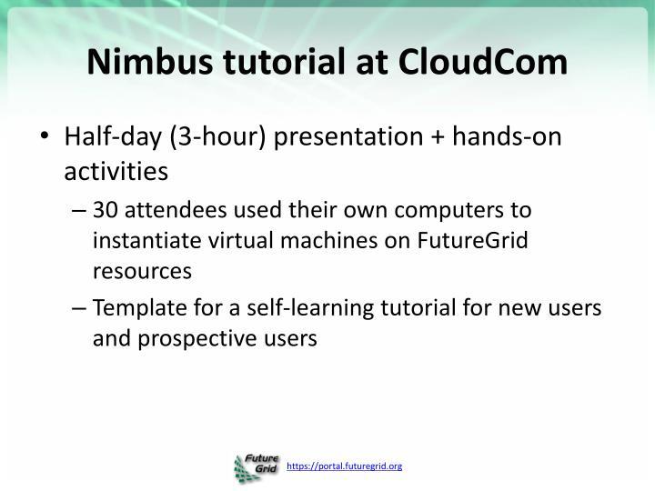 Nimbus tutorial at CloudCom