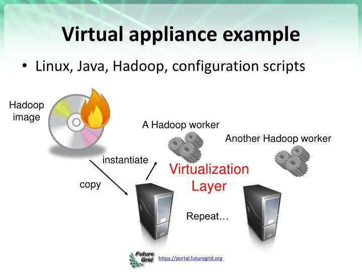 Virtual appliance example