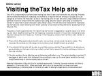online survey visiting the tax help site1
