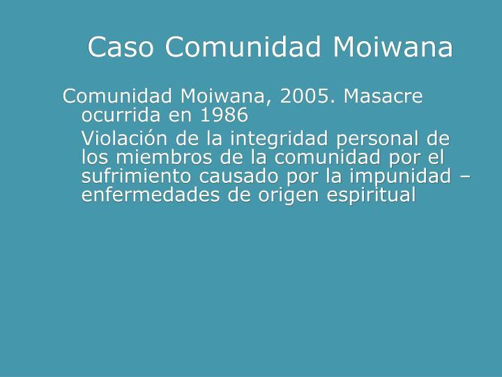 Caso Comunidad Moiwana