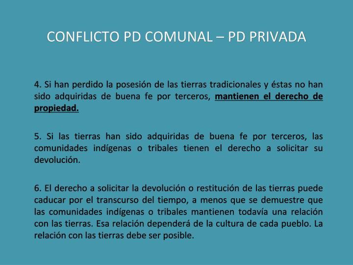 CONFLICTO PD COMUNAL – PD PRIVADA