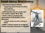 south africa brief history
