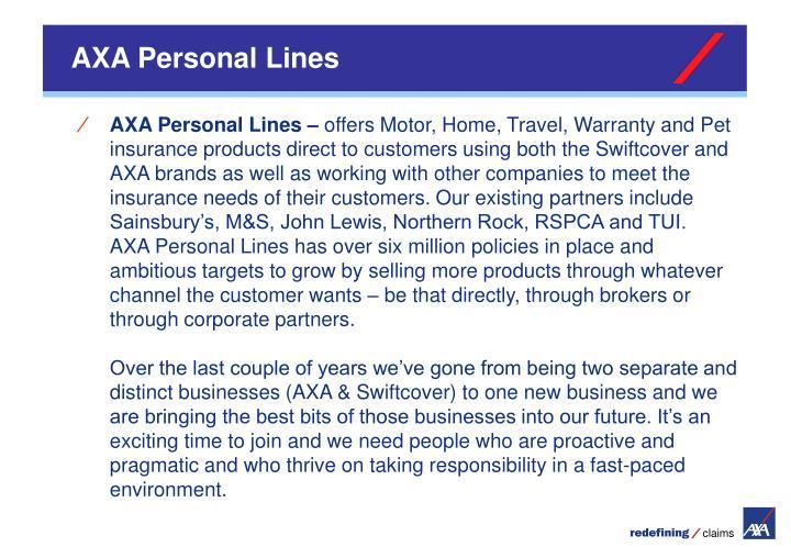 AXA Personal Lines