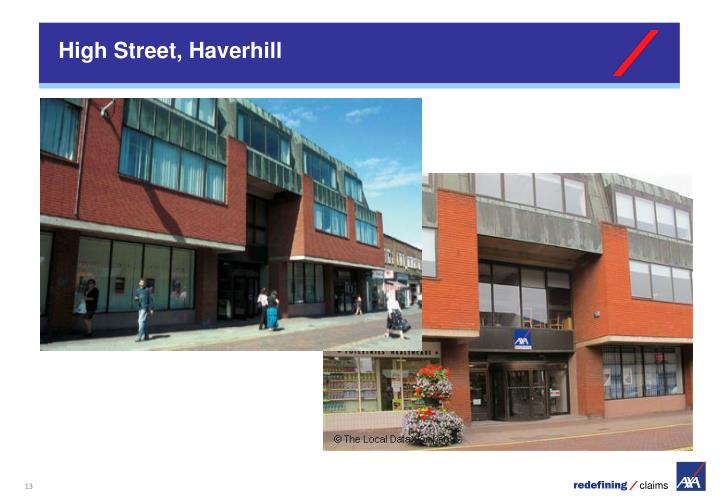High Street, Haverhill