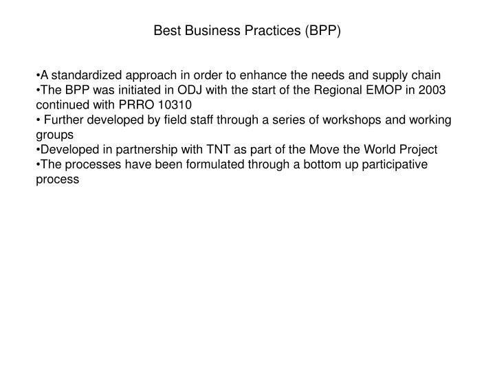 Best Business Practices (BPP)