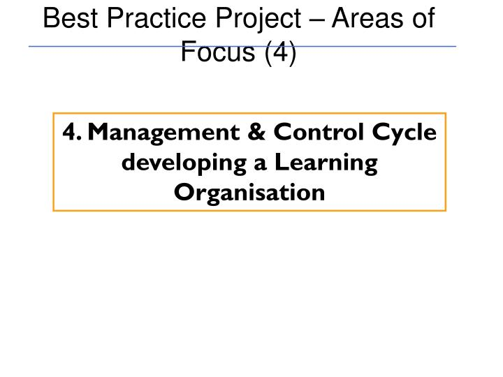 Best Practice Project – Areas of Focus (4)