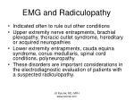 emg and radiculopathy