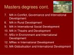 masters degrees cont