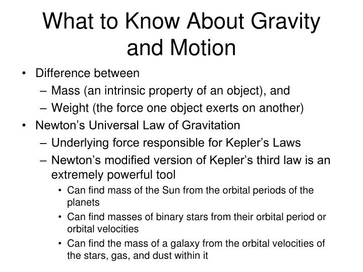 What to Know About Gravity and Motion