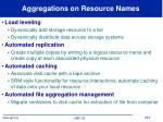 aggregations on resource names