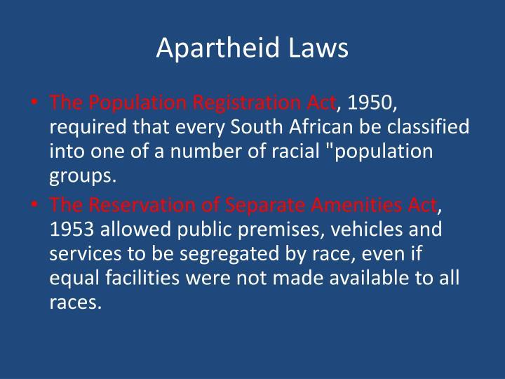 Apartheid Laws