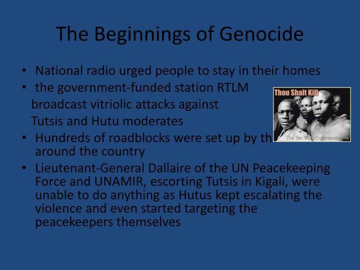 The Beginnings of Genocide