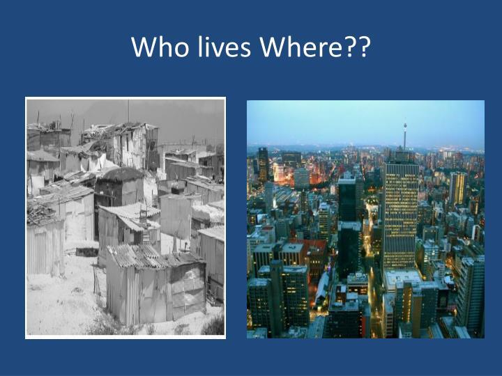 Who lives Where??