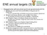 ene annual targets 3