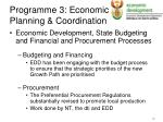 programme 3 economic planning coordination4