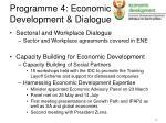 programme 4 economic development dialogue1