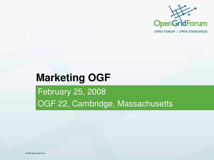 Marketing ogf