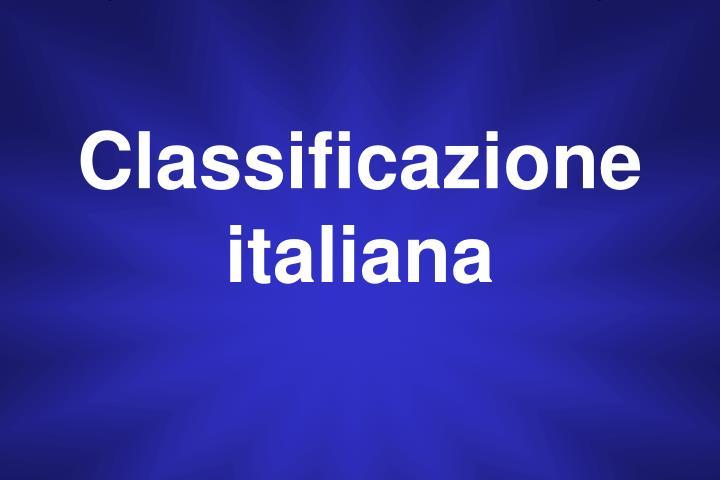 Classificazione italiana