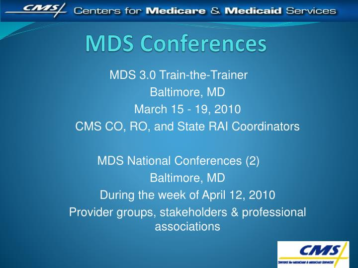 MDS Conferences