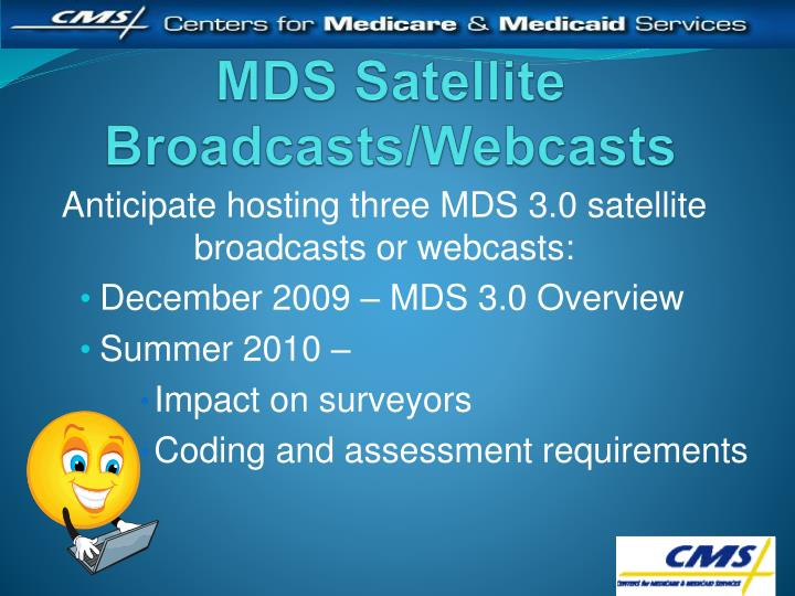 MDS Satellite Broadcasts/Webcasts