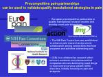 precompetitive pain partnerships can be used to validate qualify translational strategies in pain