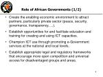 role of african governments 1 2