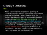 o reilly s definition