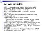 civil war in sudan