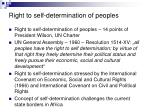 right to self determination of peoples