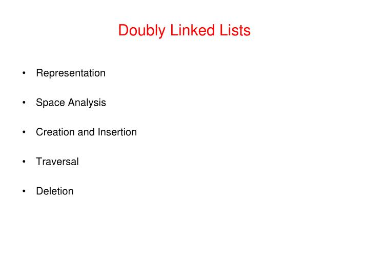 Doubly Linked Lists
