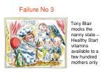 failure no 3