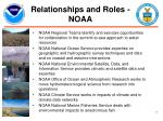 relationships and roles noaa