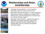 relationships and roles ocwws hsd