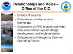 relationships and roles office of the cio