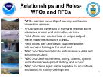 relationships and roles wfos and rfcs