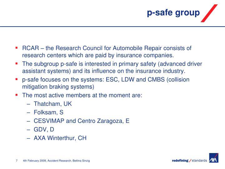 p-safe group