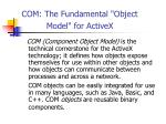 com the fundamental object model for activex