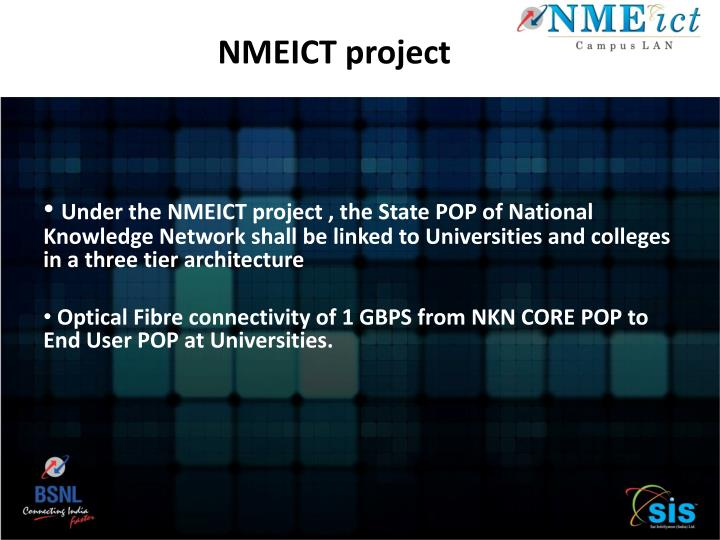 NMEICT project