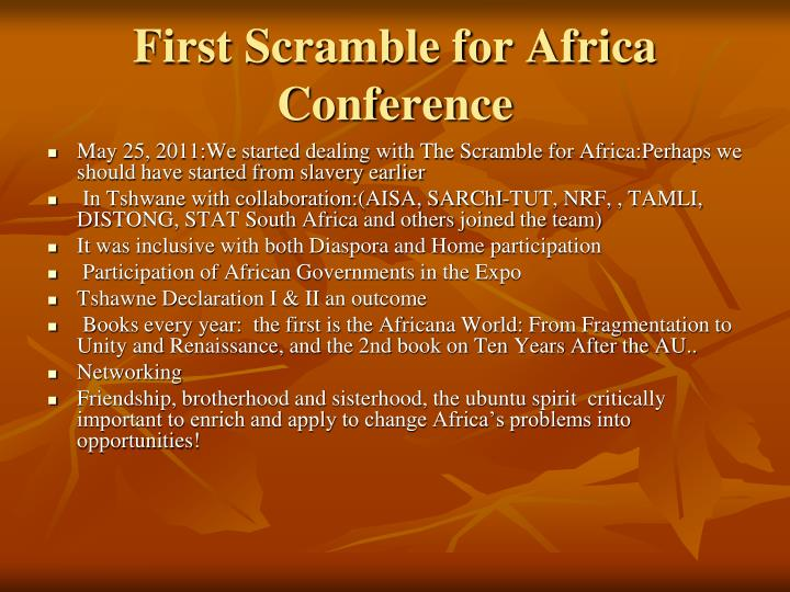 First scramble for africa conference