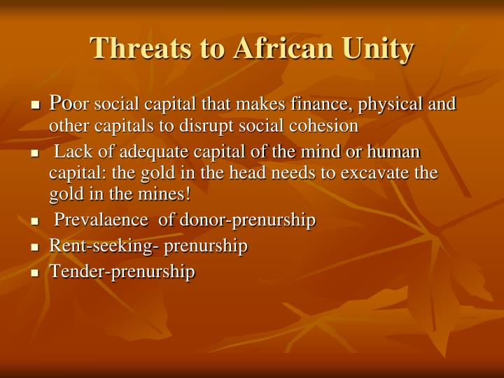 Threats to African Unity