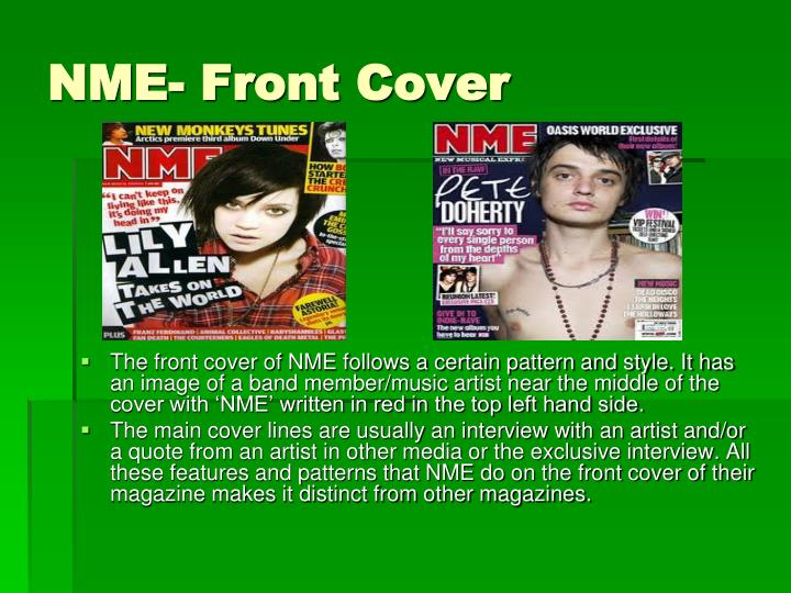 NME- Front Cover